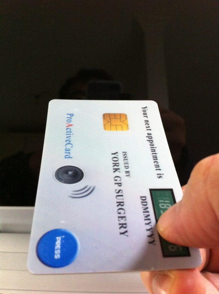 A demonstration version of Reminder Smart Card